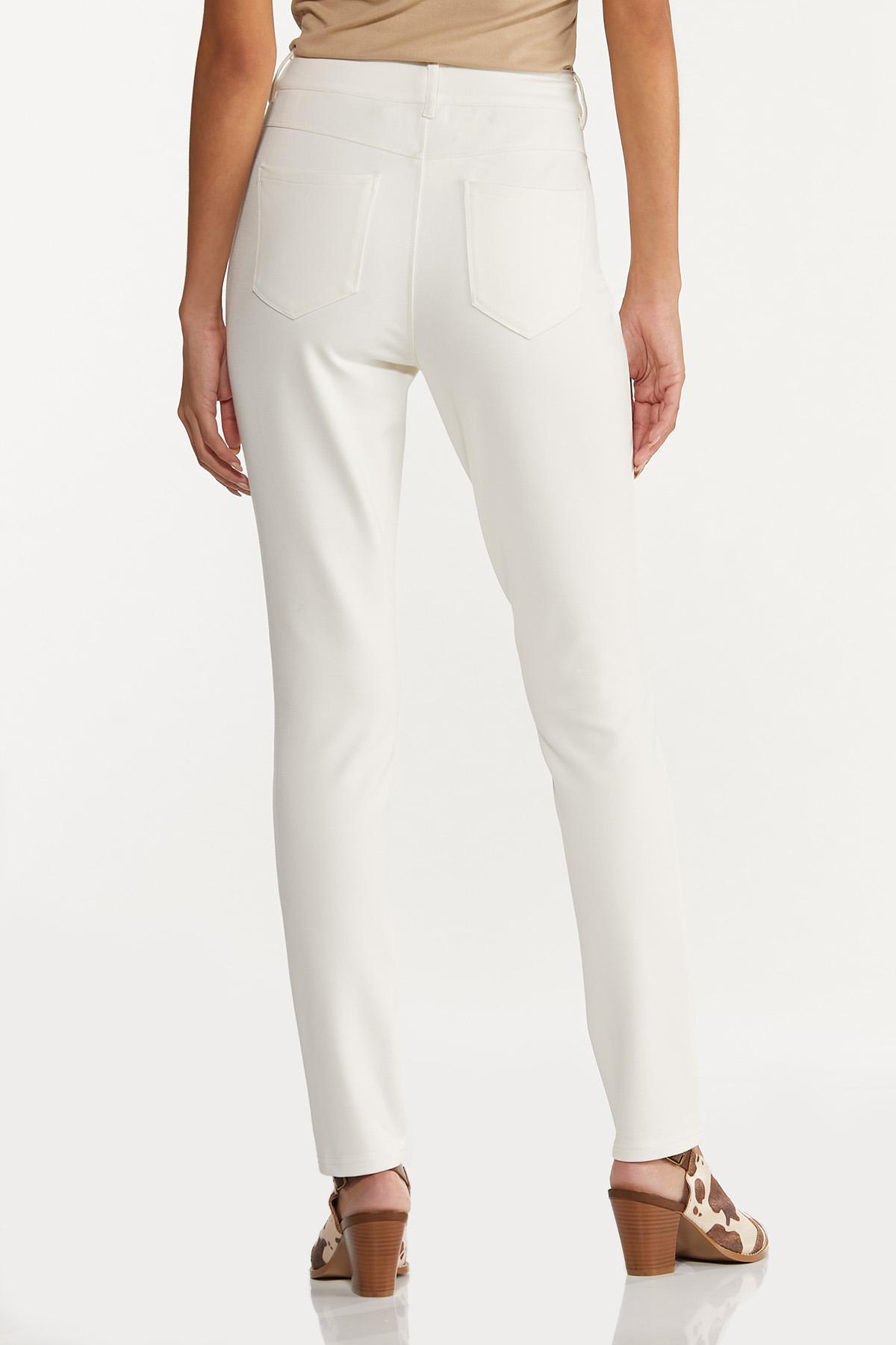 Petite Skinny 5-Pocket Ponte Pants (Item #44623024)