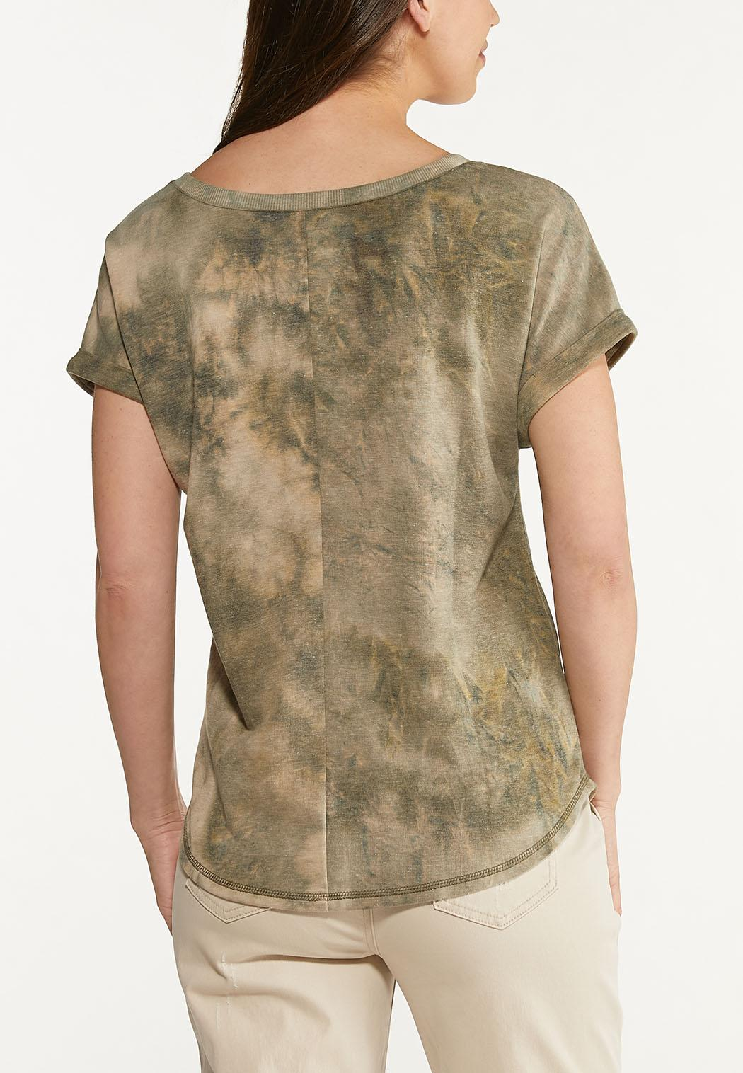 Bleached Olive Green Top (Item #44623034)