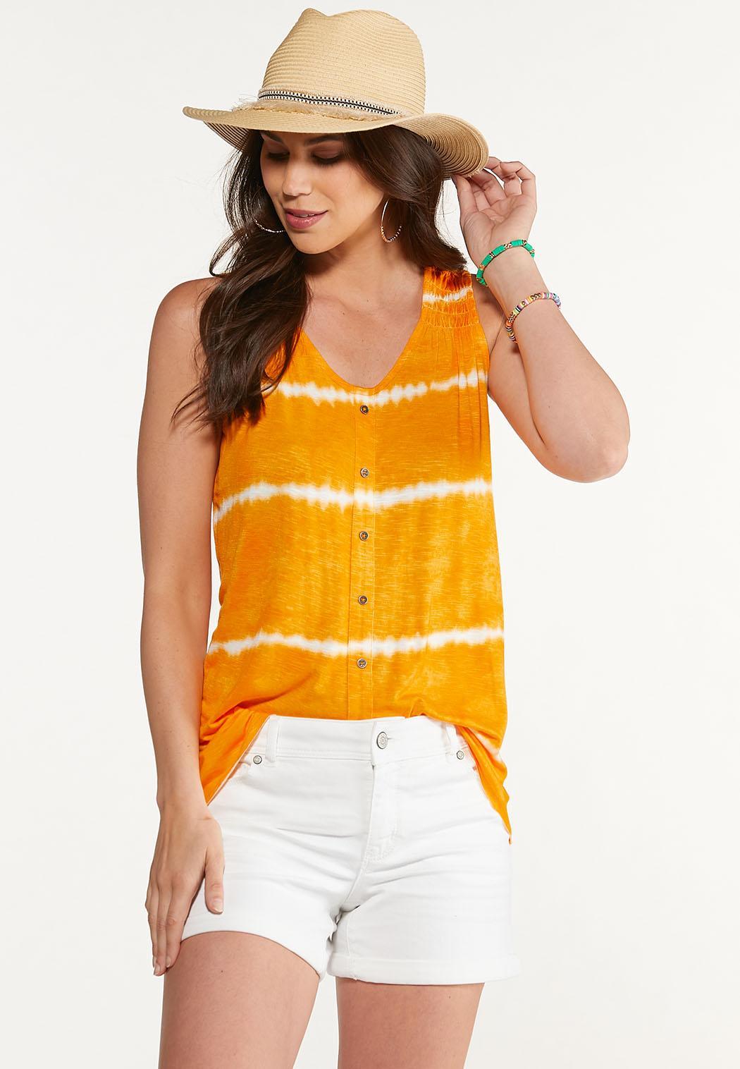 Plus Size Citrus Tie Dye Tank (Item #44623081)
