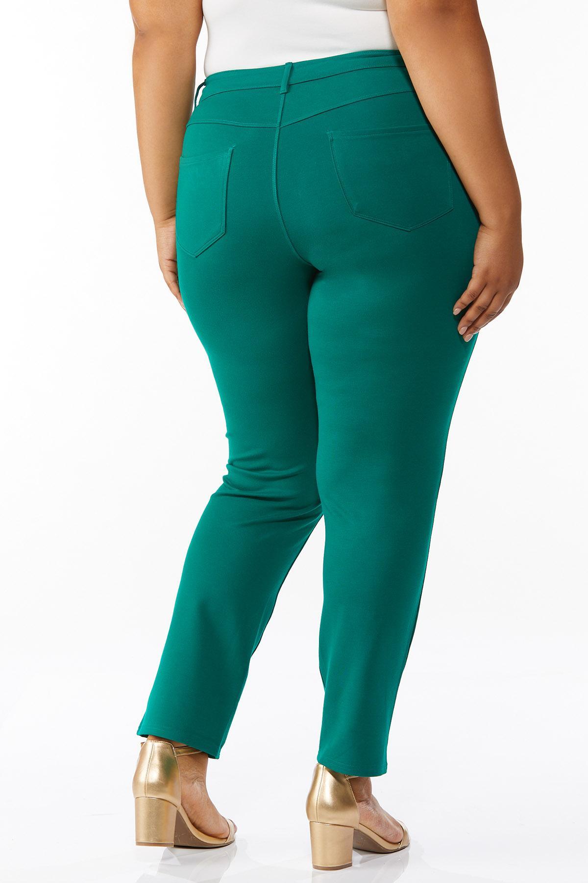 Plus Petite Skinny 5-Pocket Ponte Pants (Item #44623339)
