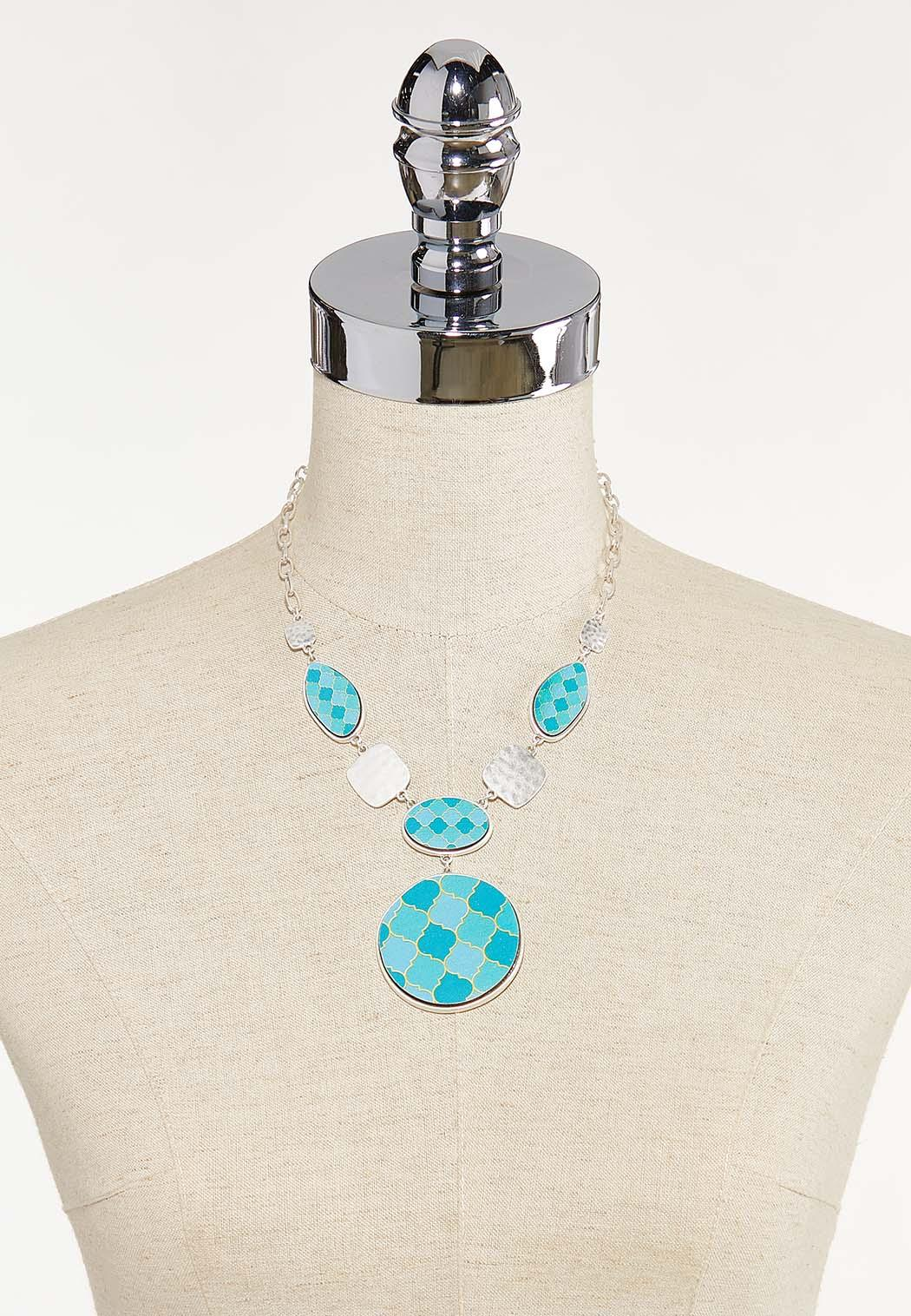 Blue Moroccan Wood Necklace (Item #44623466)