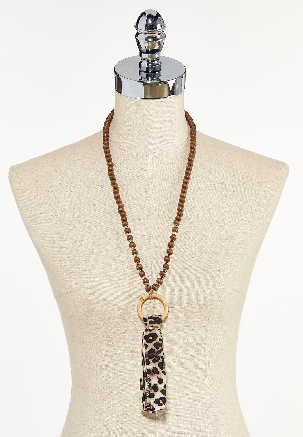 Beaded Leopard Tassel Necklace (Item #44623474)