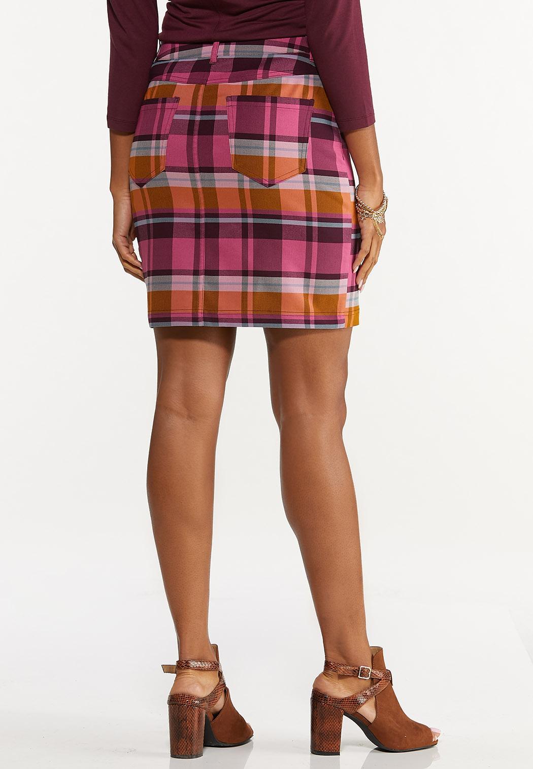 Plaid Bengaline Mini Skirt (Item #44623481)