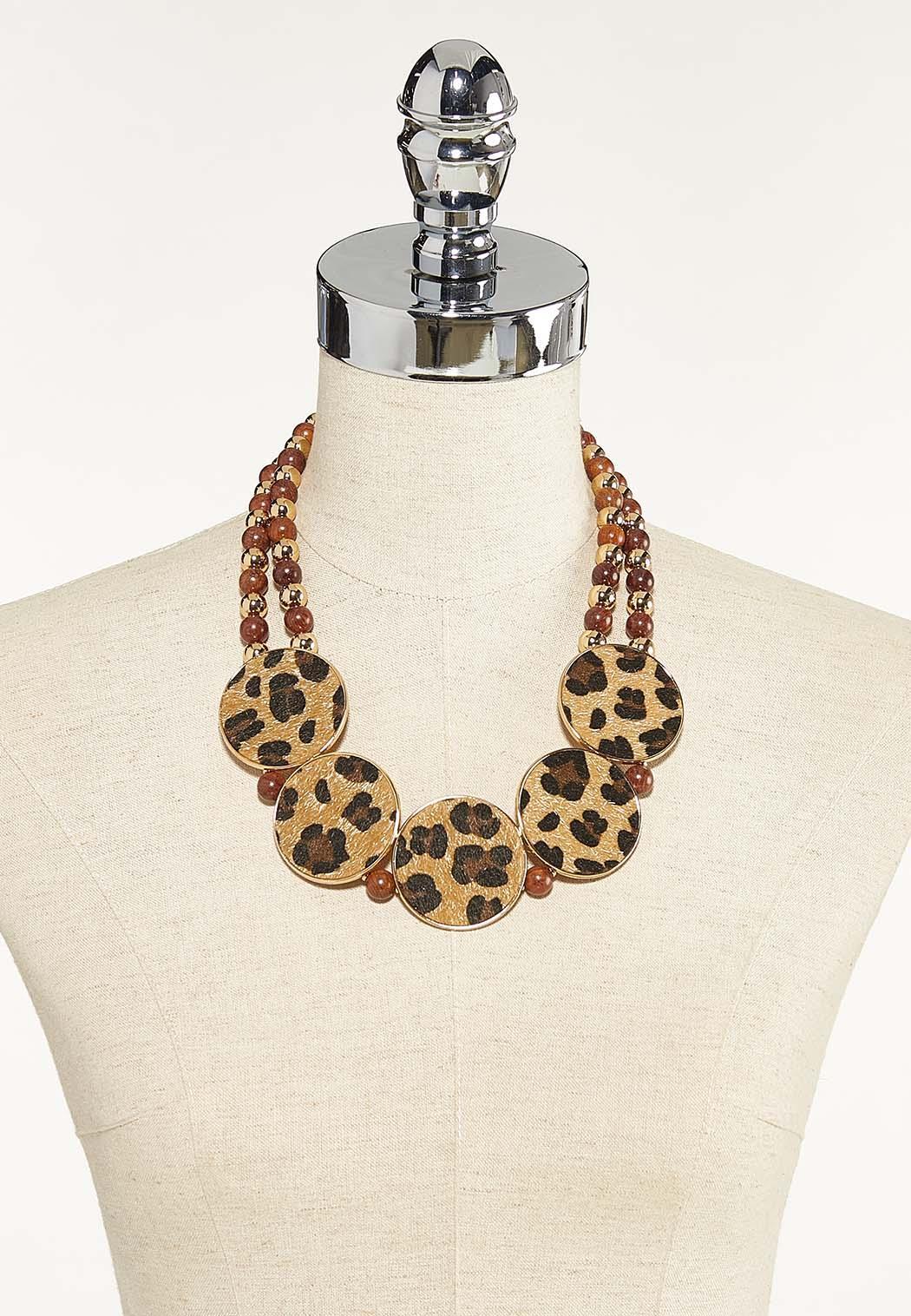 Leopard Circle Statement Necklace (Item #44623500)