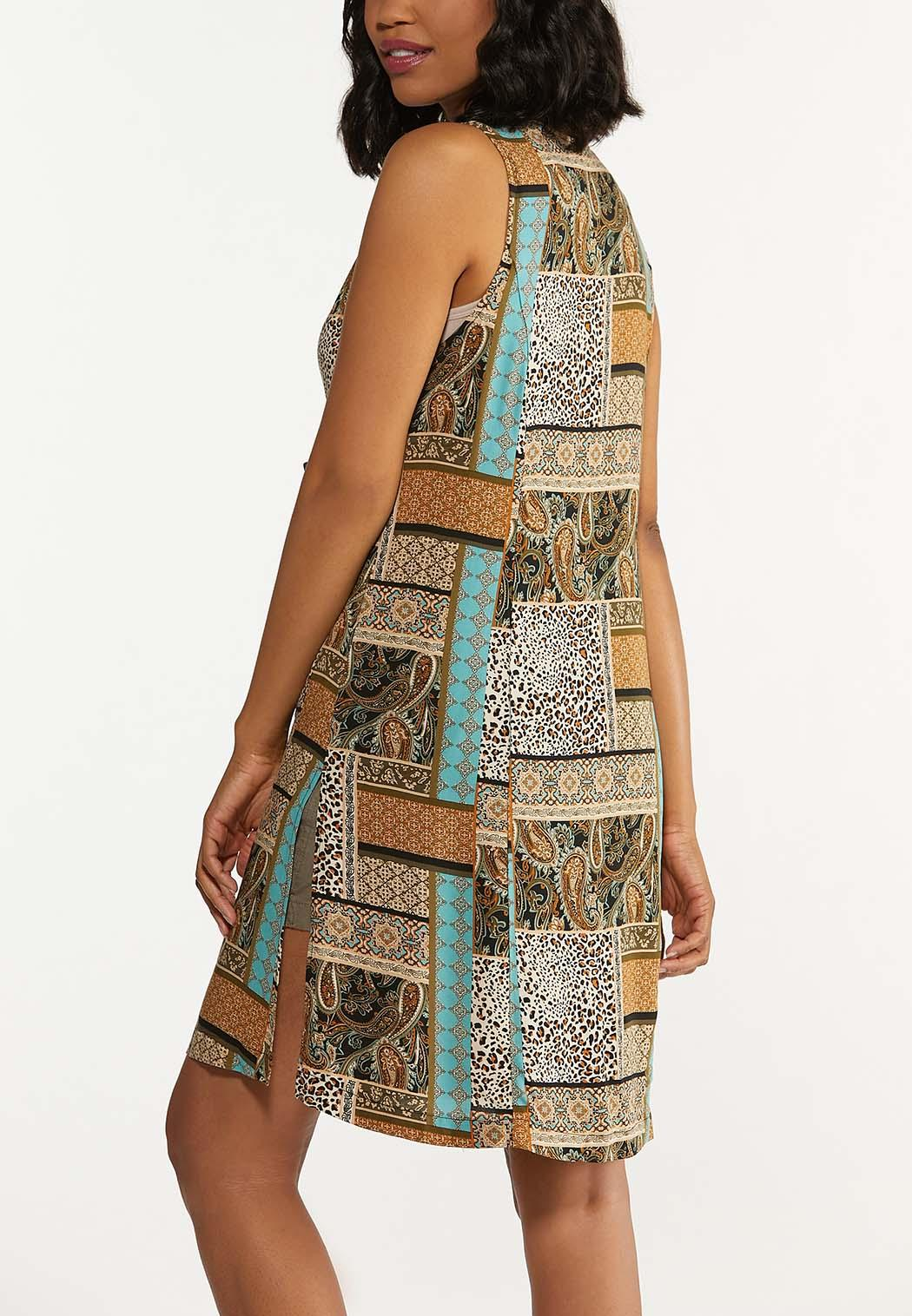 Mixed Patchwork Print Vest (Item #44624094)