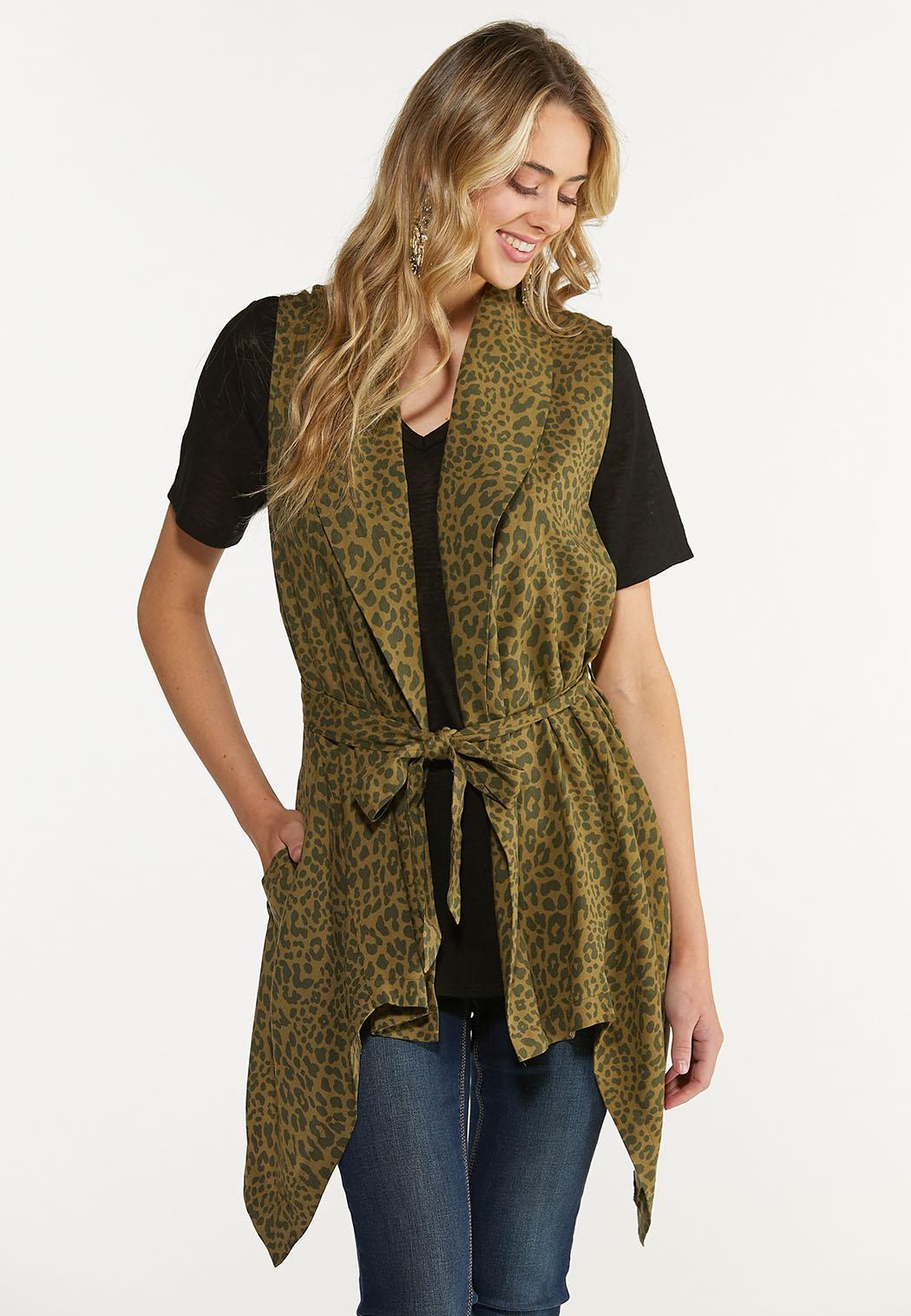 Belted Leopard Cardigan (Item #44624138)