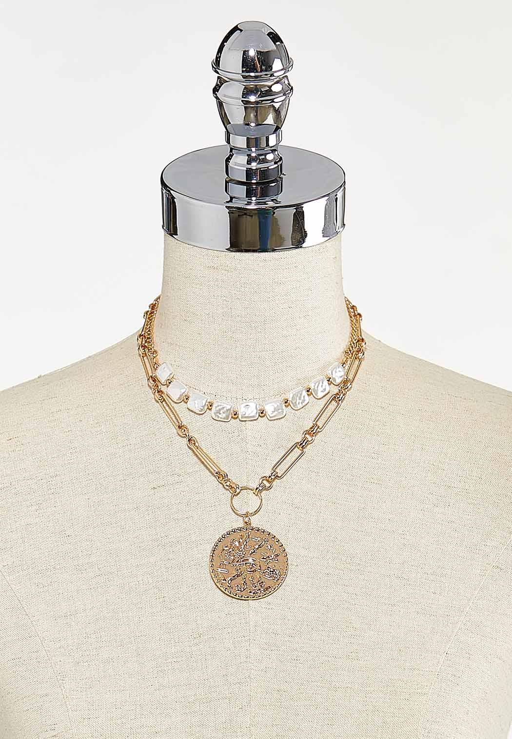 Layered Coin Necklace (Item #44624250)