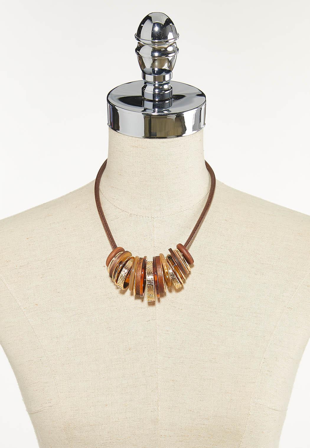 Mixed Circle Cord Necklace (Item #44624315)