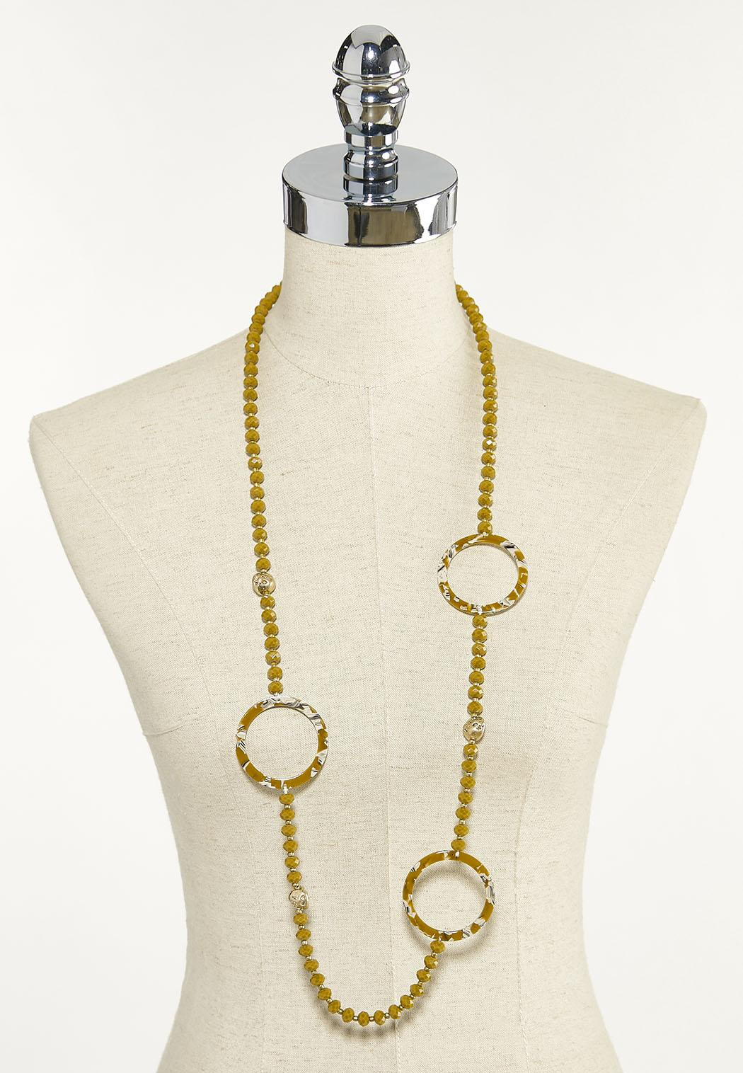 Beaded Resin Circle Necklace (Item #44624430)