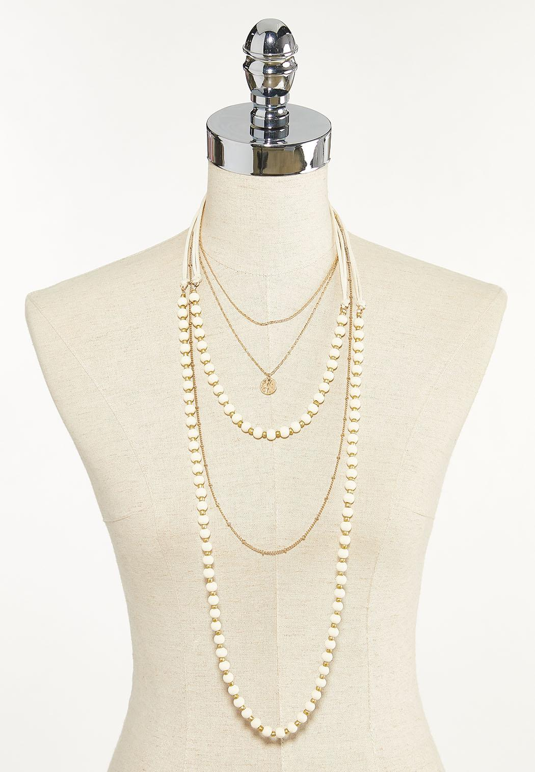 Layered Cord Chain Necklace (Item #44624438)