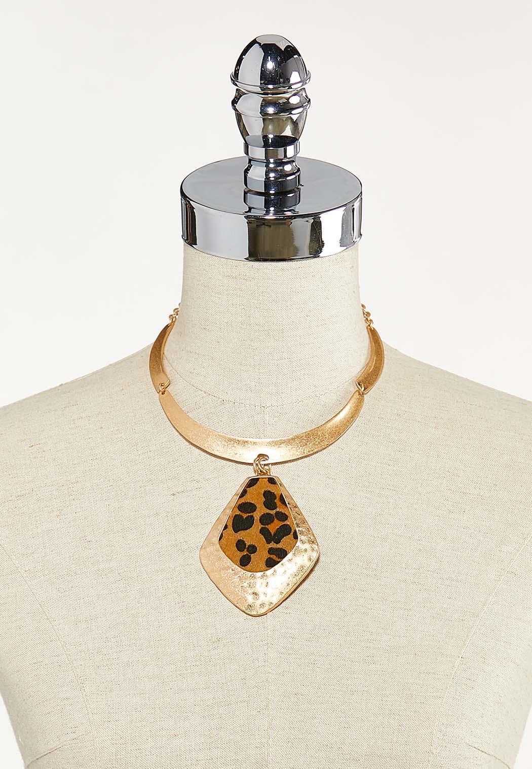 Gold Leopard Pendant Necklace (Item #44624441)