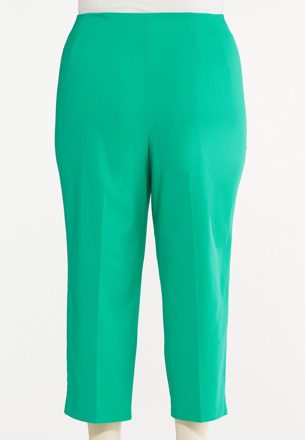 Plus Size Cropped Sailor Button Pants (Item #44624776)
