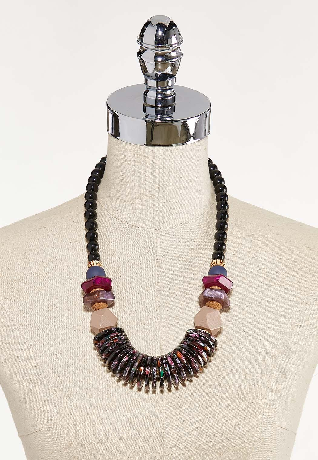 Mixed Lucite Statement Necklace (Item #44624793)