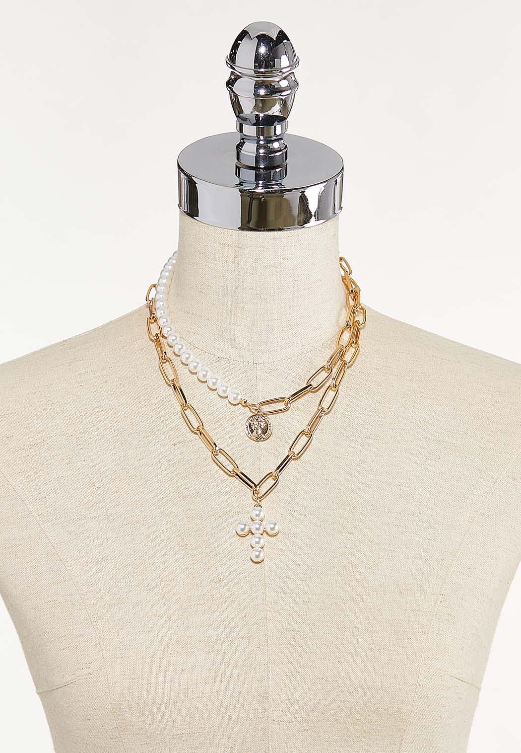 Mixed Pendant Link Necklace Set (Item #44624855)