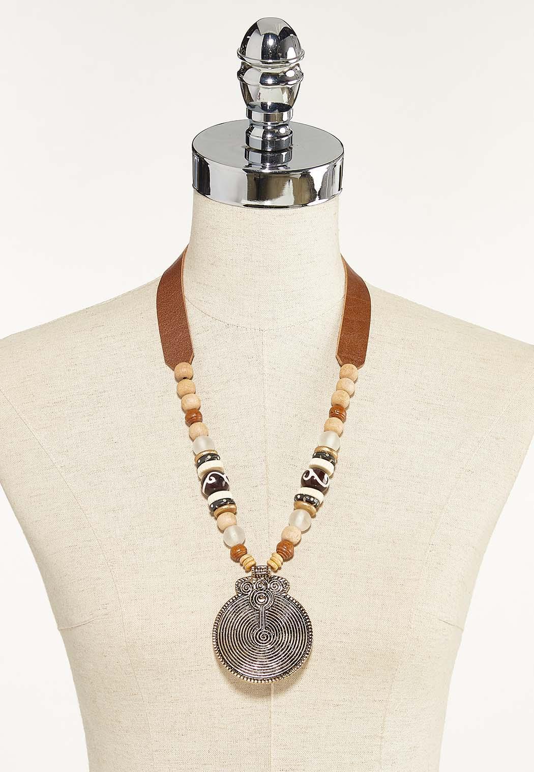 Tribal Pendant Cord Necklace (Item #44625244)