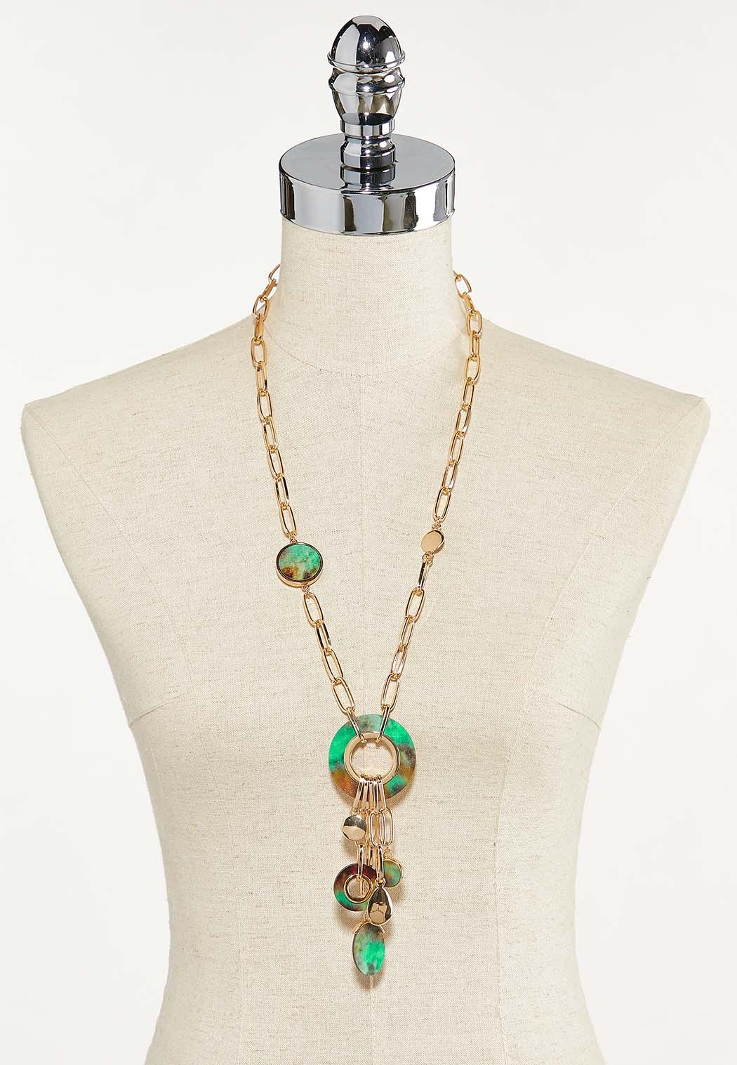 Painted Wood Chain Necklace (Item #44625435)