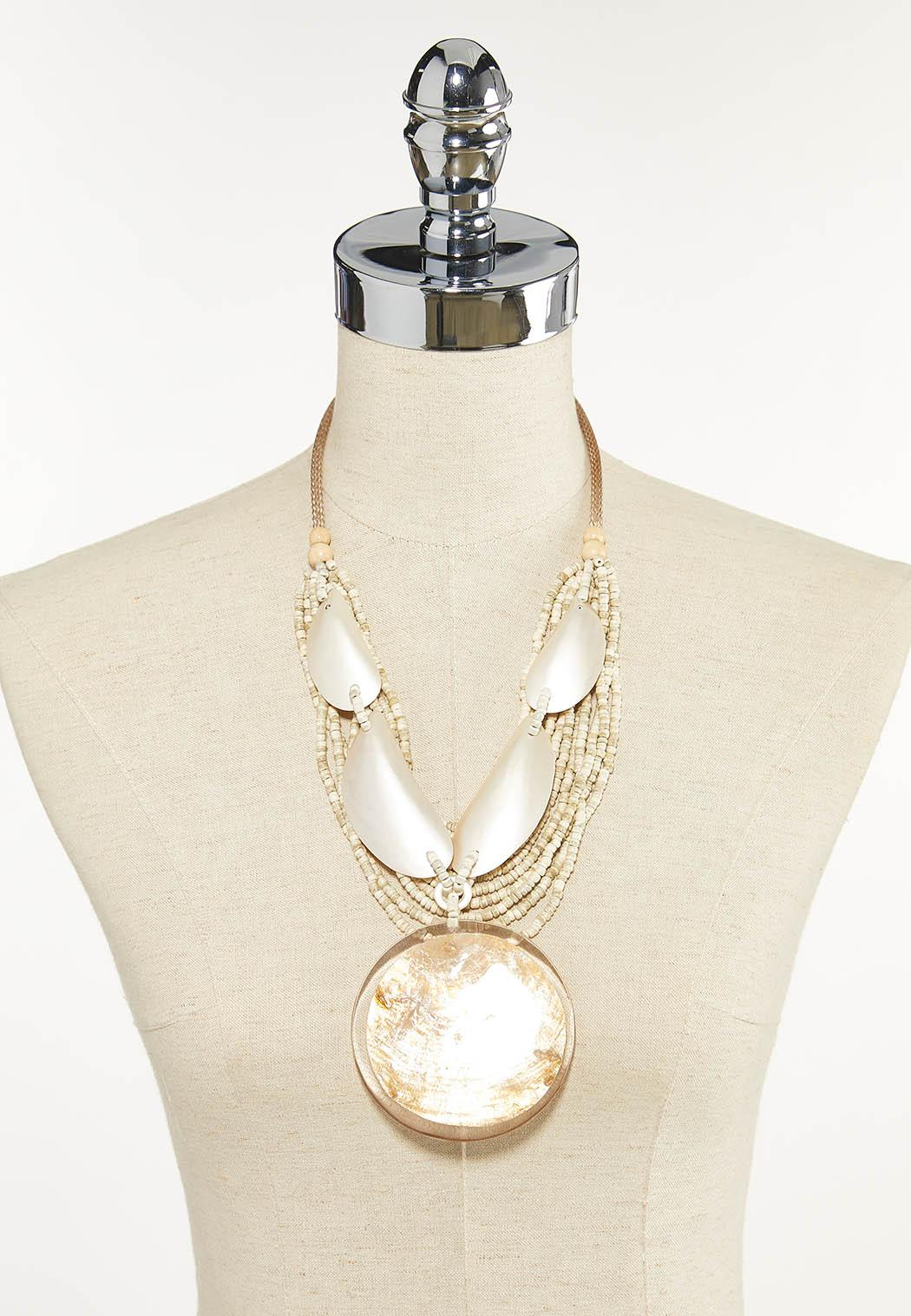 Ivory Shell Statement Necklace (Item #44625641)