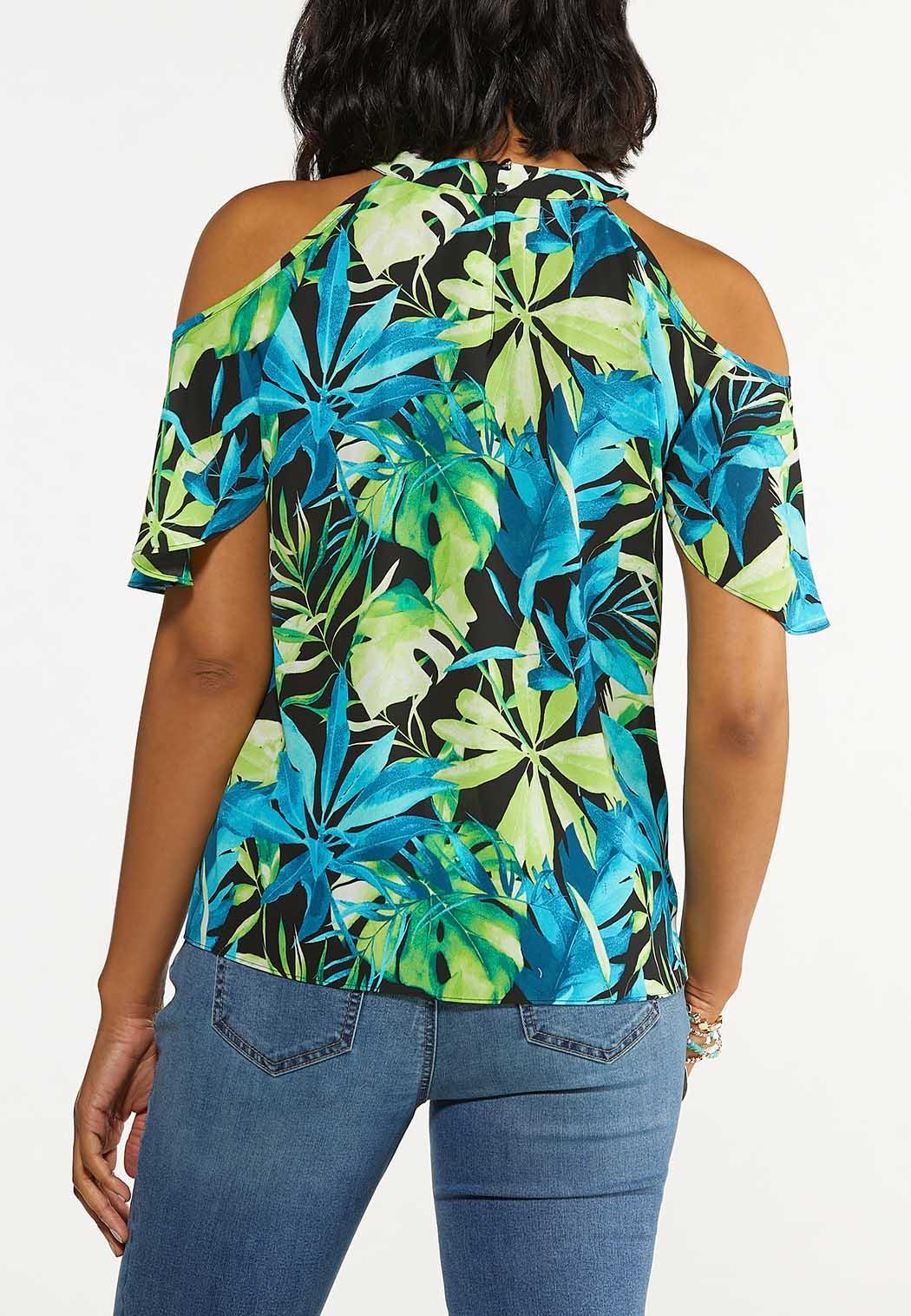 Island Floral Cold Shoulder Top (Item #44626033)