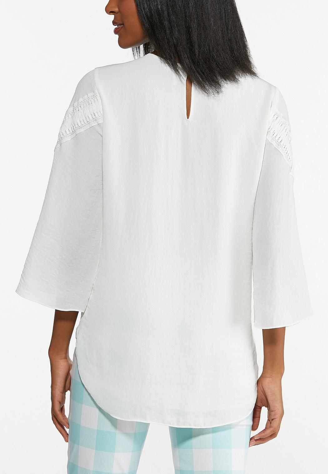 Plus Size Ivory Breeze Boho Top (Item #44626383)
