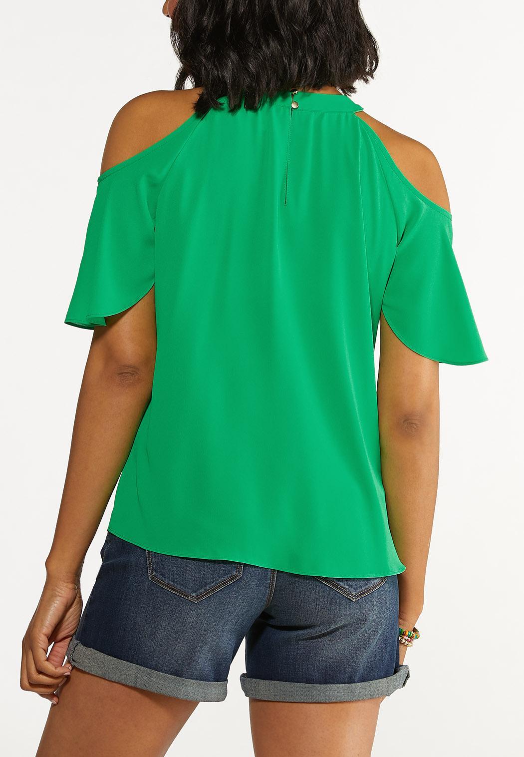 Plus Size Kelly Cold Shoulder Top (Item #44626690)