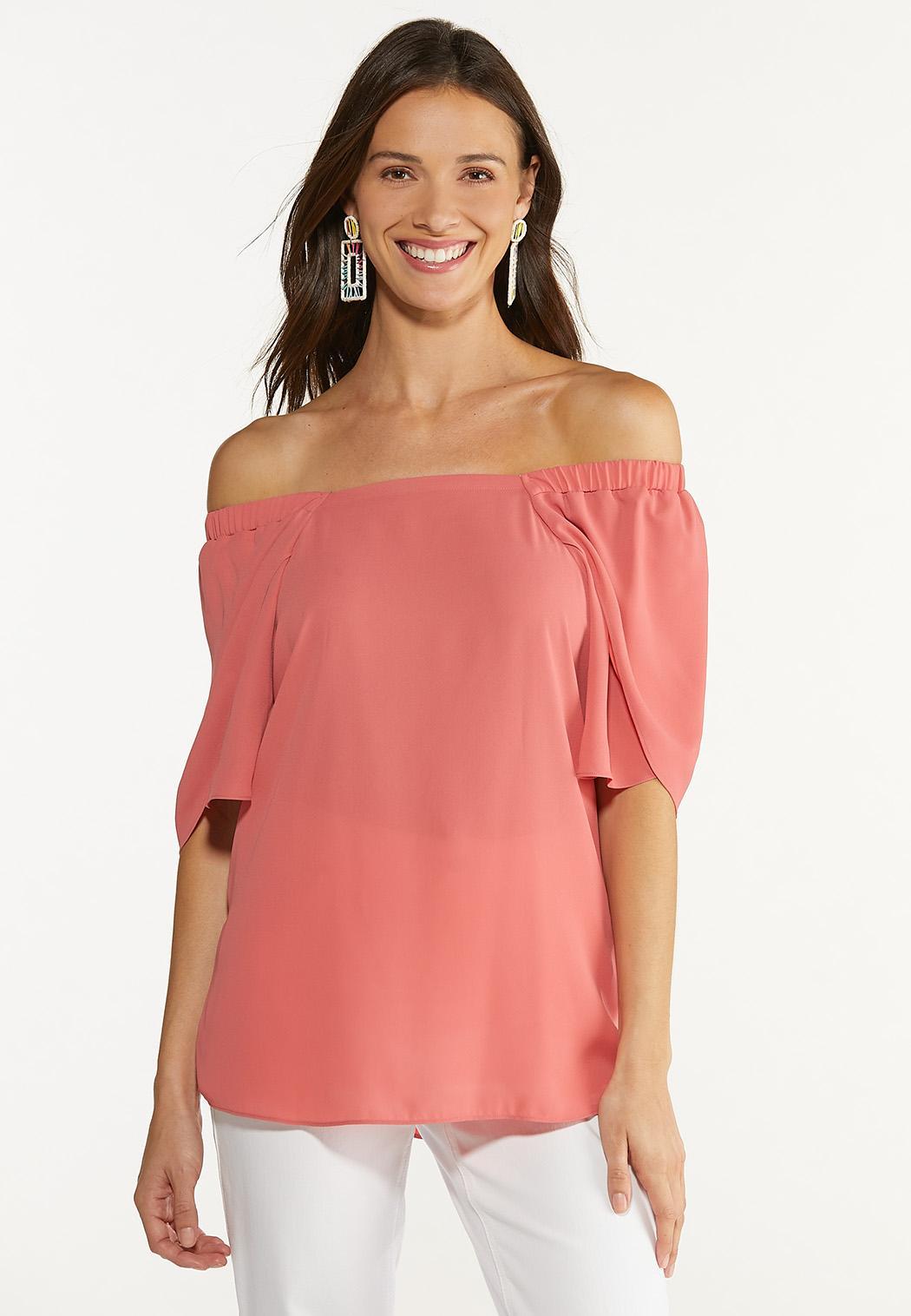 Coral Tulip Sleeve Top (Item #44626771)