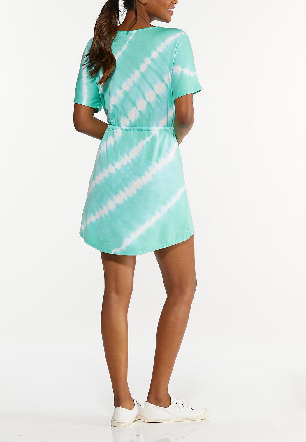 Tie Dye Drawstring Dress (Item #44627140)
