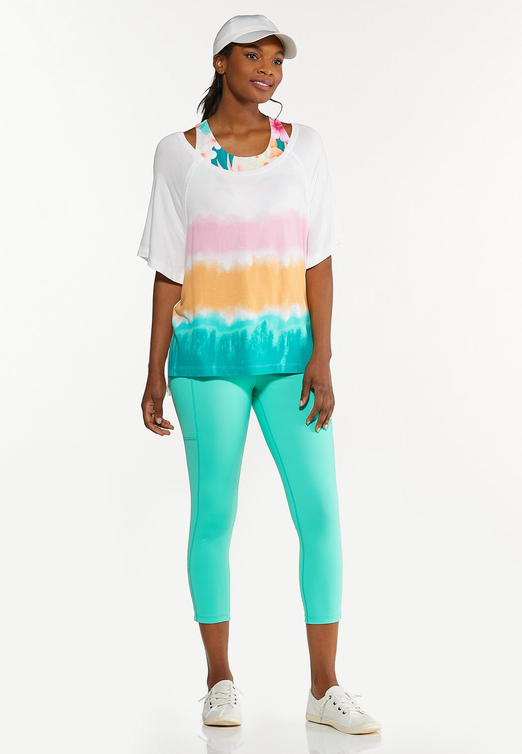 Plus Size Relaxed Tie Dye Top (Item #44627189)