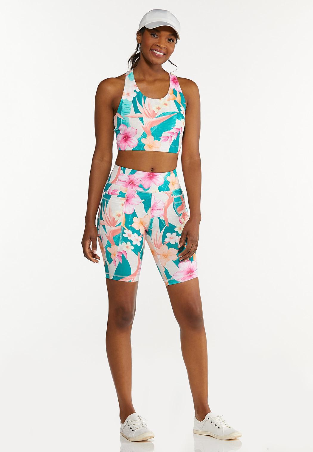 Plus Size Tropical Sports Bra (Item #44627280)