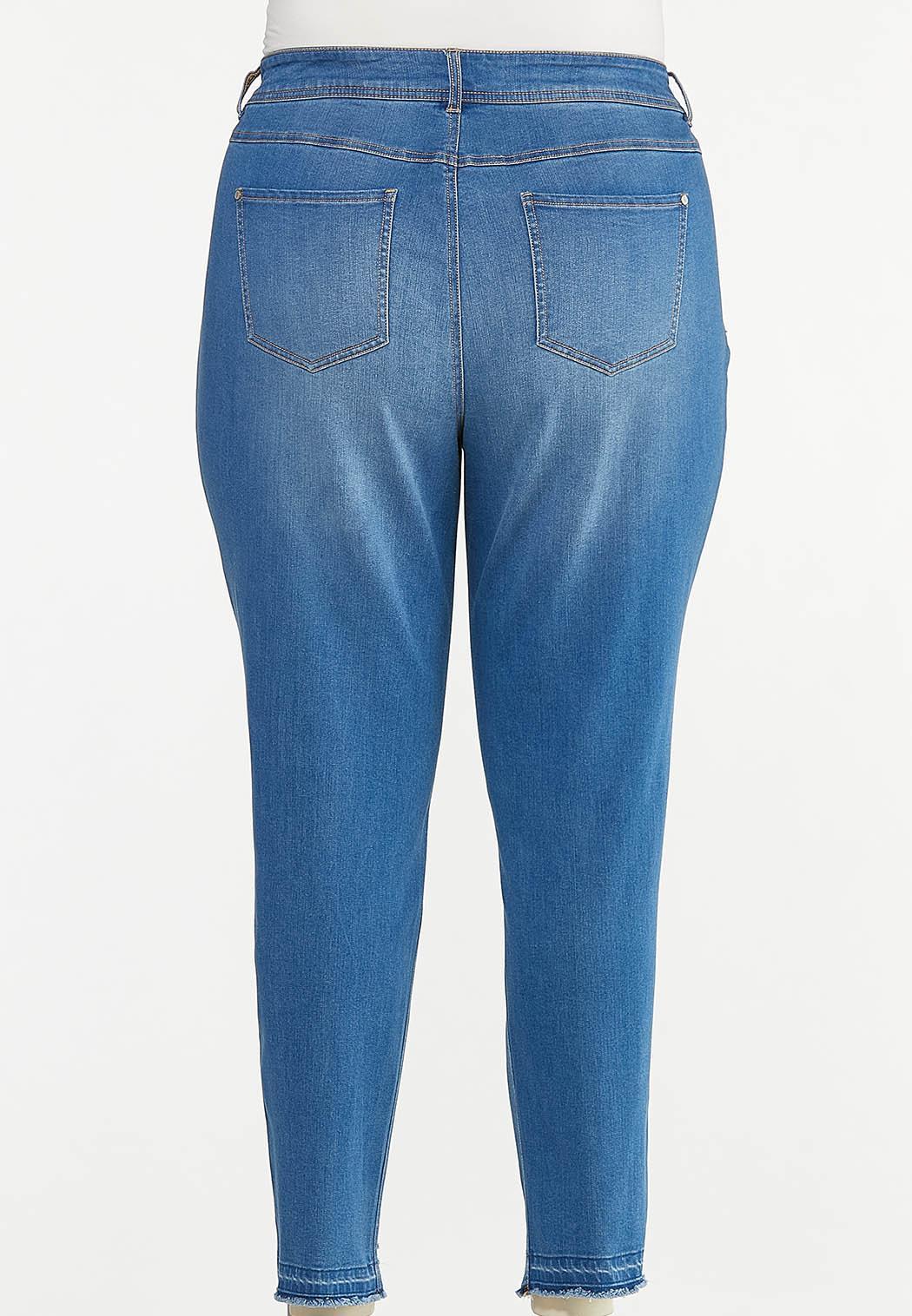 Plus Size Curvy Distressed Jeans (Item #44627455)