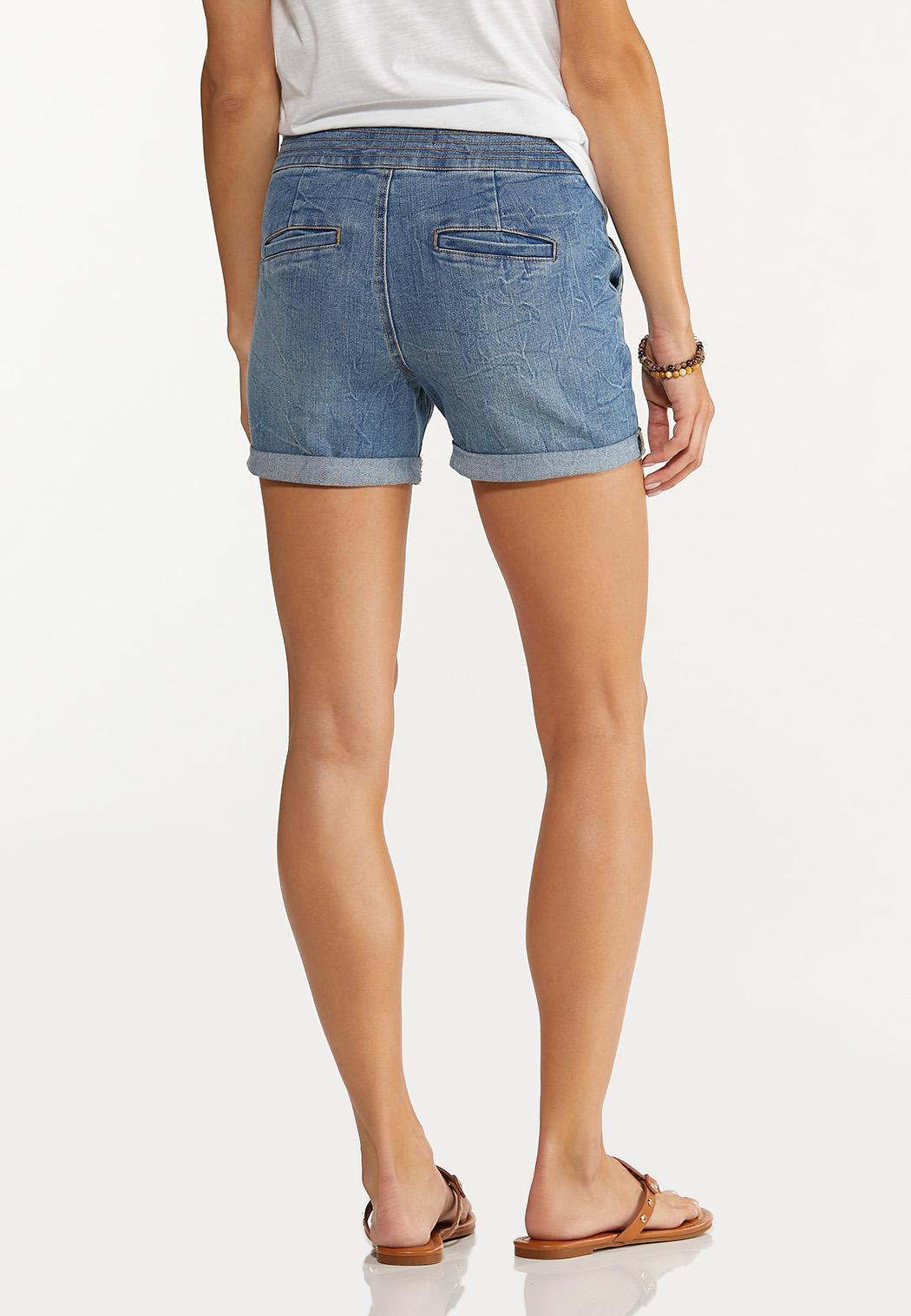 Double Button Denim Shorts (Item #44627604)