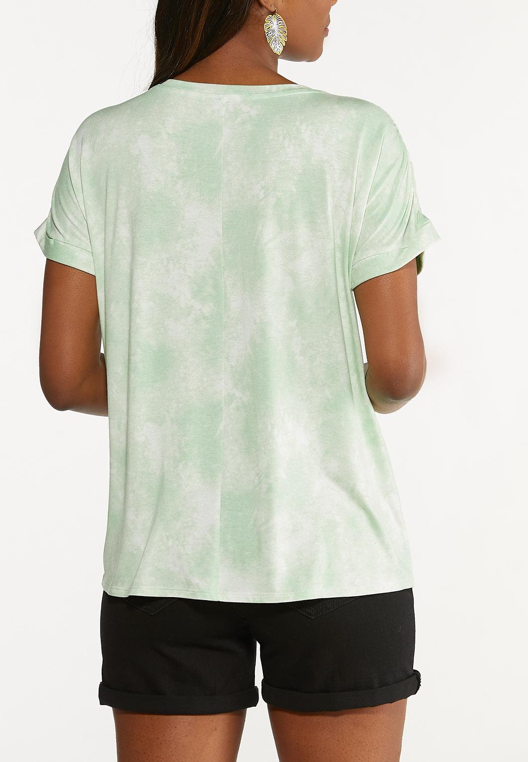 Plus Size Good Vibes Tie Dye Tee (Item #44627918)
