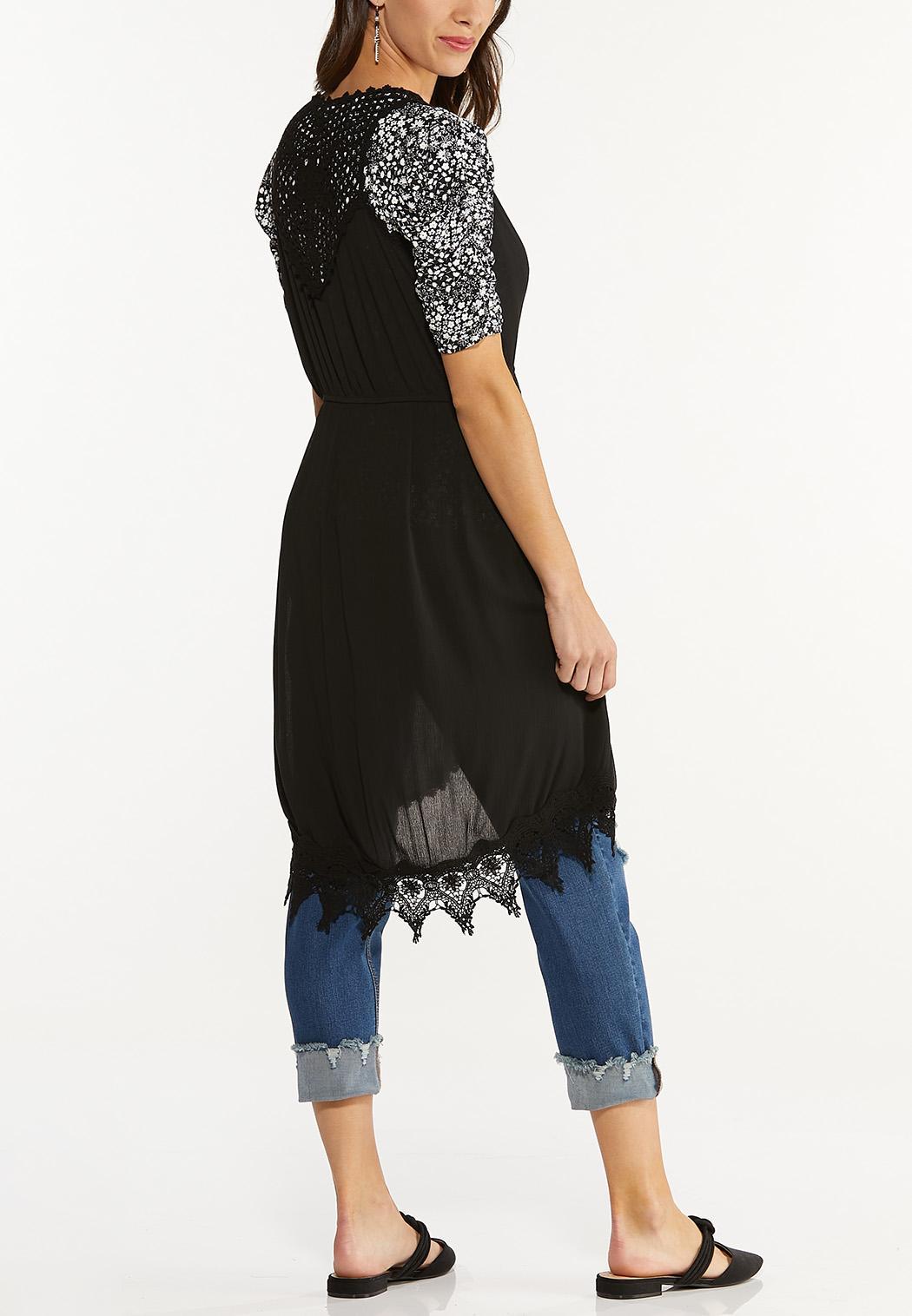 Plus Size Lace Trim Vest (Item #44628616)