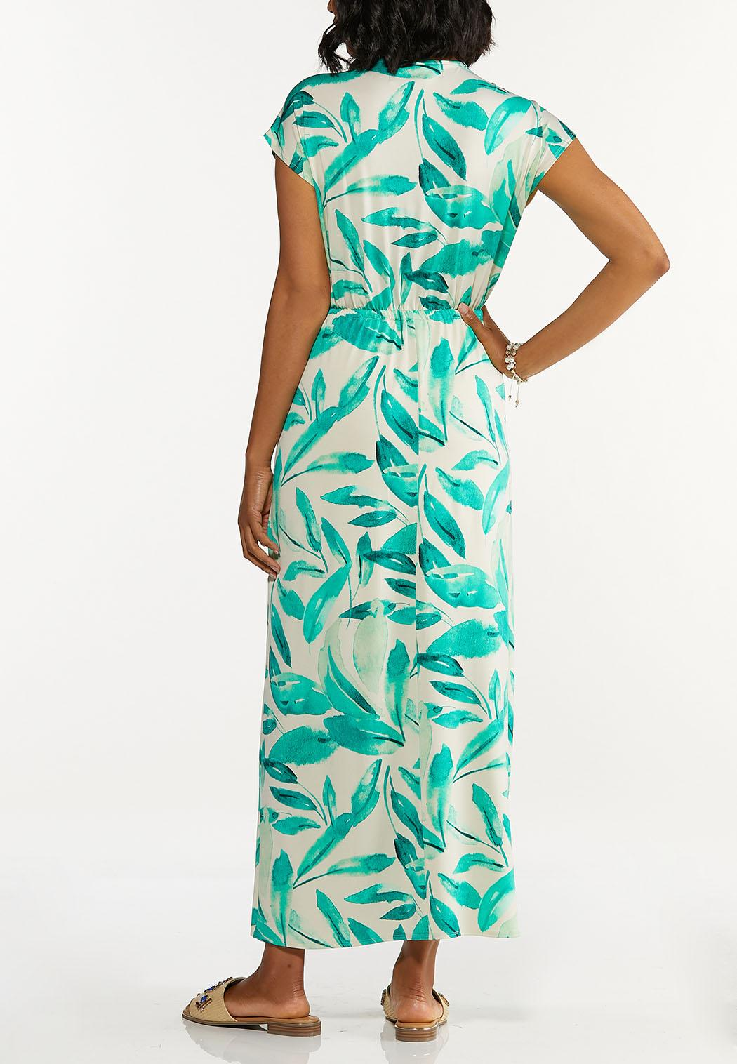 Plus Size Tasseled Leaf Maxi Dress (Item #44629257)