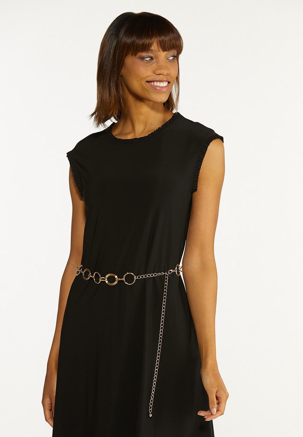 Plus Size Detailed Circle Chain Belt (Item #44629523)