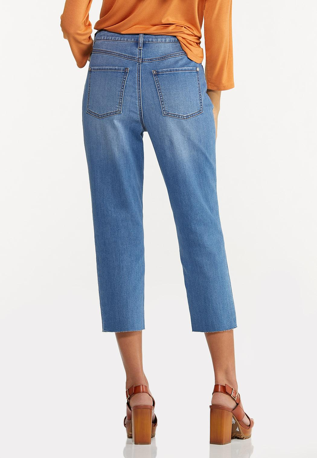 Cropped Patchwork Jeans (Item #44629532)