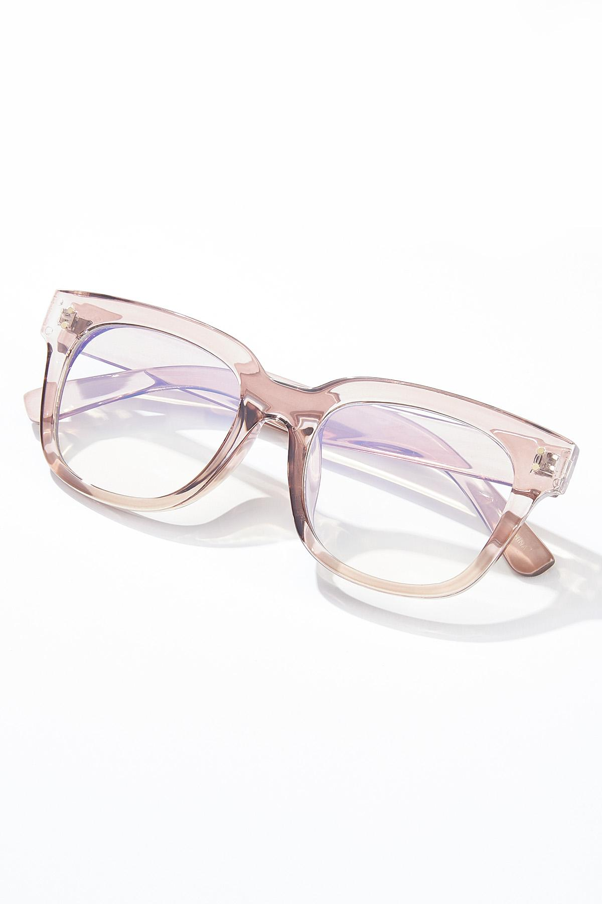 Lucite Tan Blue Light Glasses (Item #44629677)