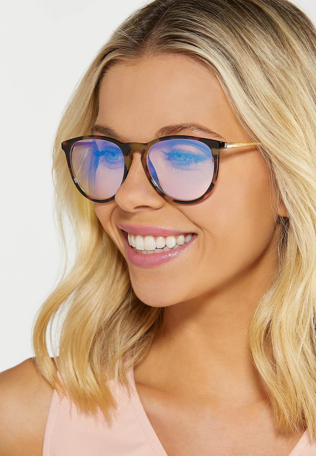 Round Tortoise Blue Light Glasses (Item #44629796)