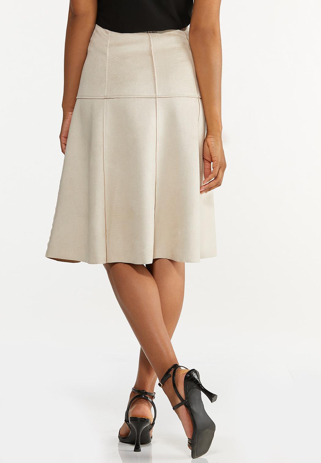 Faux Suede Midi Skirt (Item #44630830)
