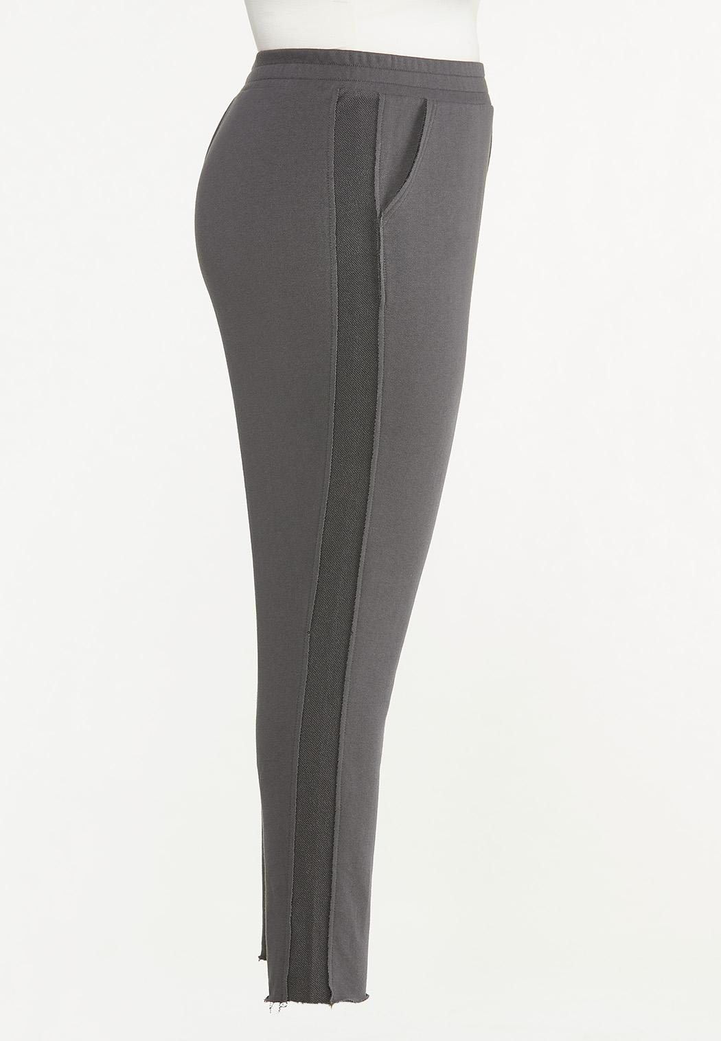 Plus Size Contrasting French Terry Pants (Item #44630860)