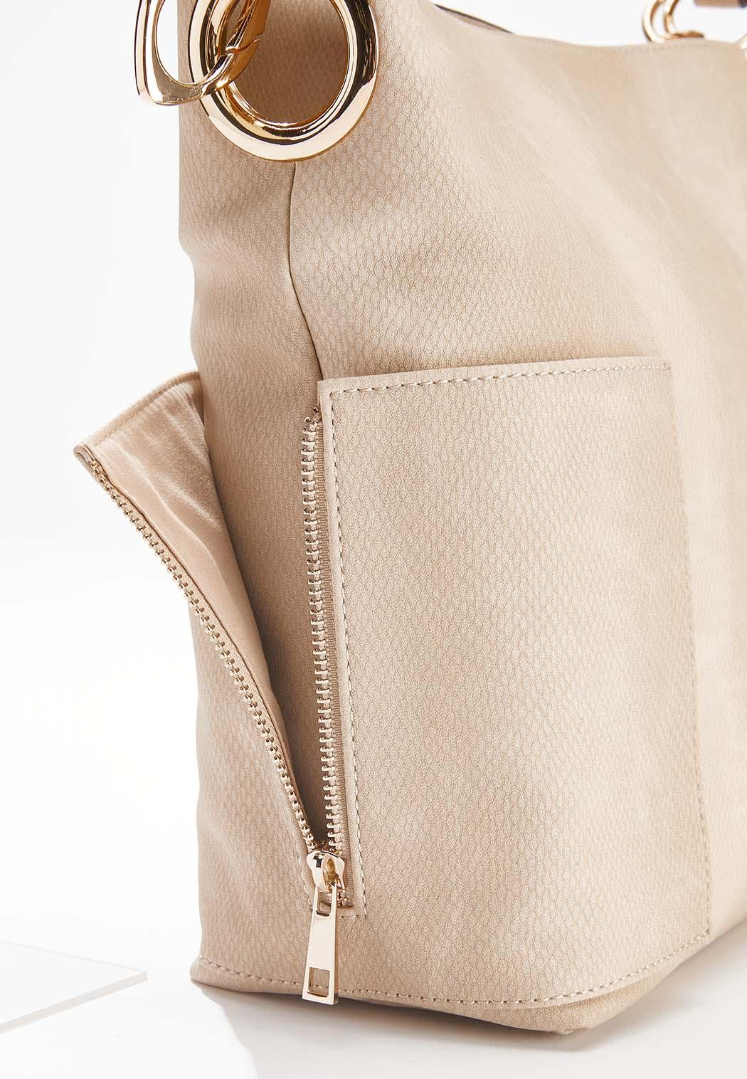 Tonal Snakeskin Hobo Handbag (Item #44630998)