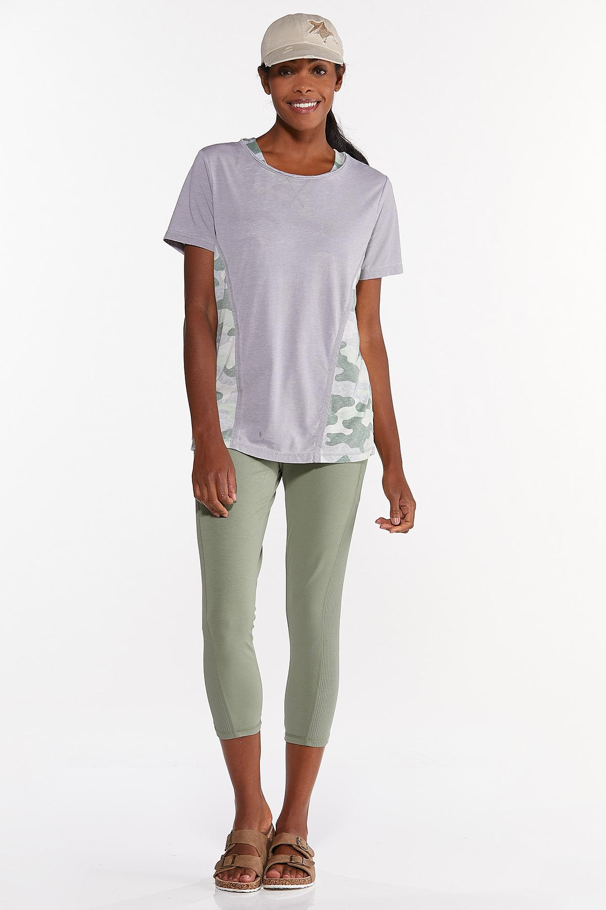 Plus Size Relaxed Camo Inset Tee (Item #44632701)