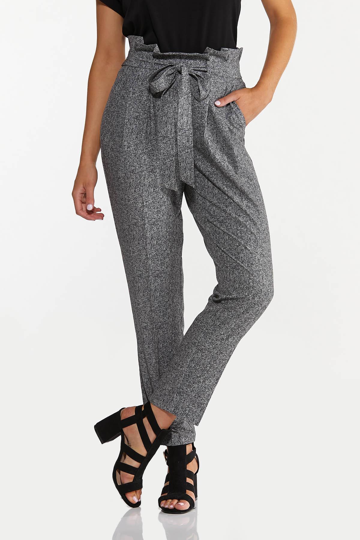 Marled Tie Waist Pants (Item #44633221)