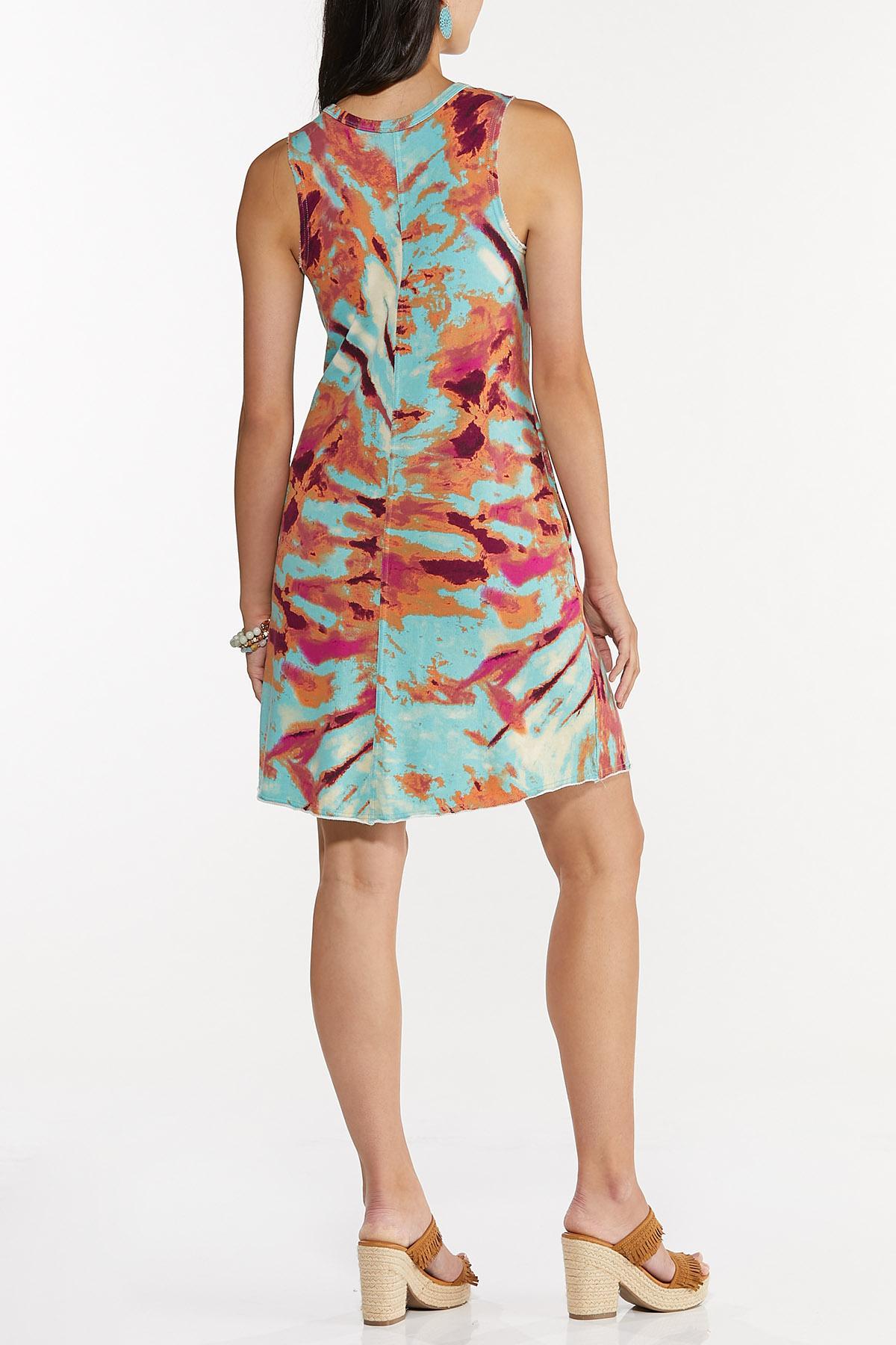Plus Size Tie Dye Swing Dress (Item #44633257)