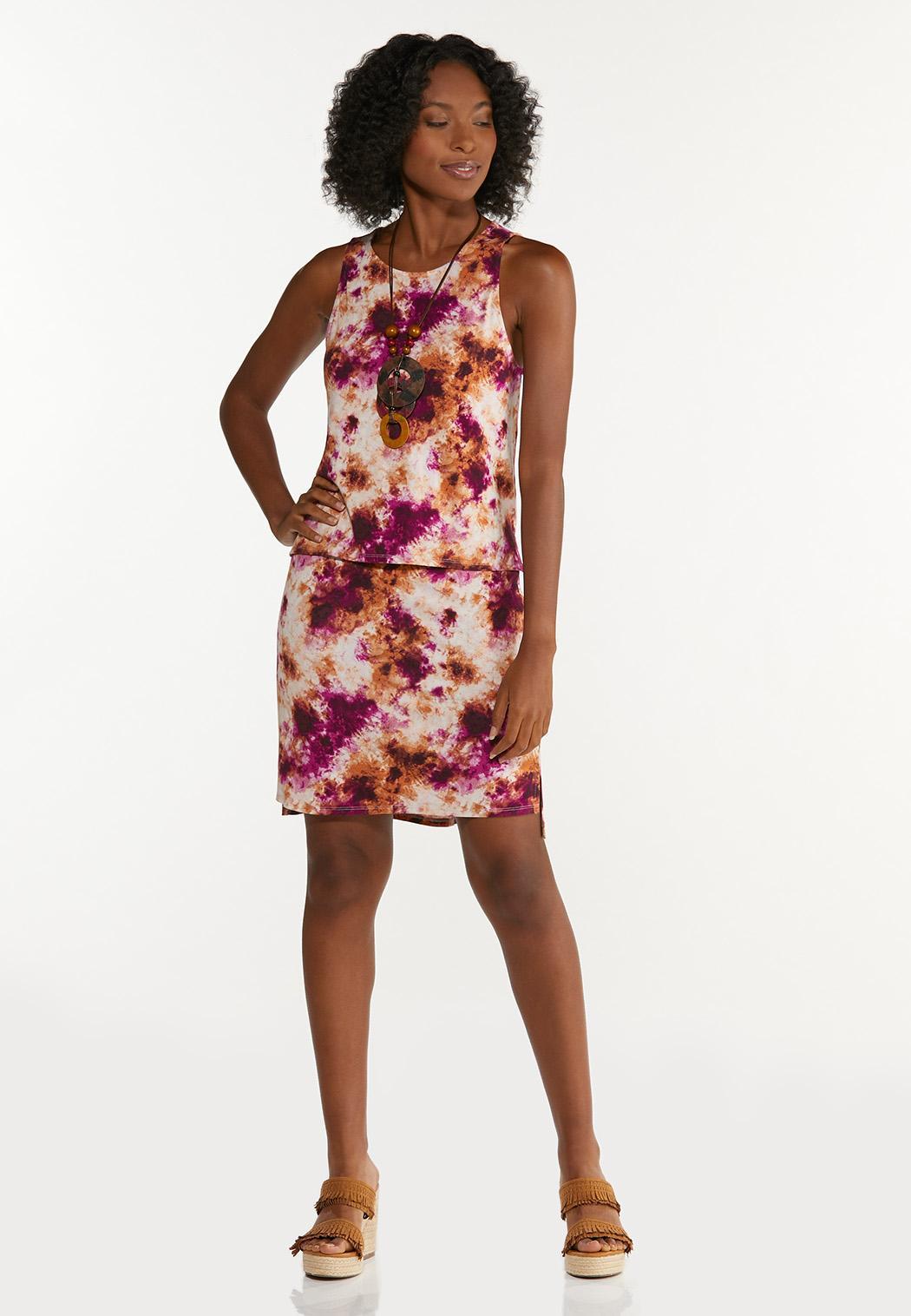Plus Size Cranberry Tie Dye Tank (Item #44633297)