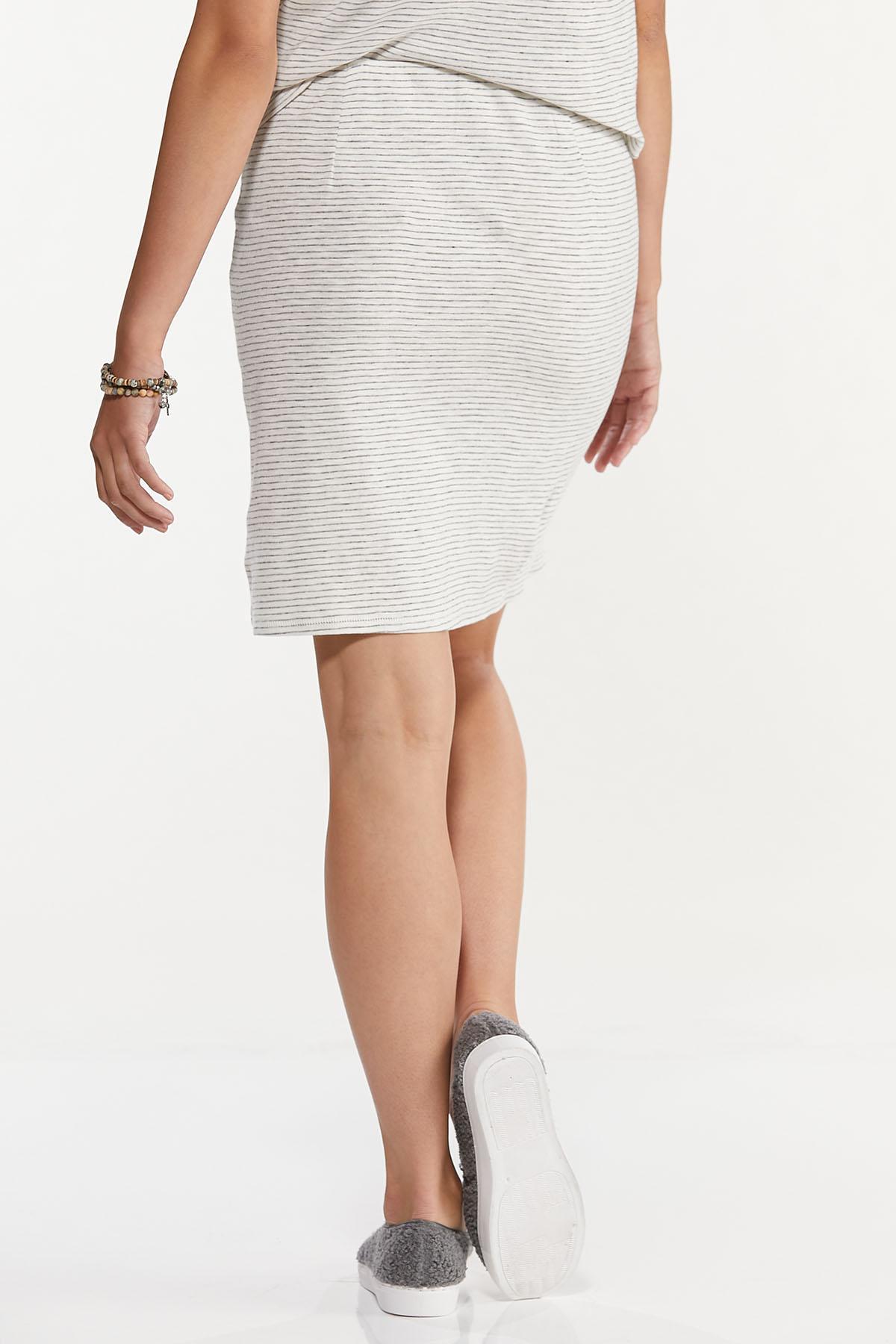 Stripe Faux Wrap Skirt (Item #44633393)