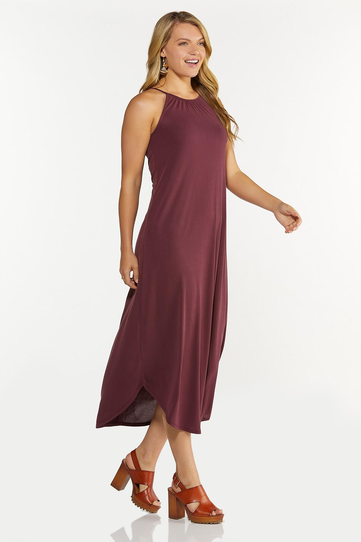 Petite Curved Hem Midi Dress (Item #44633432)