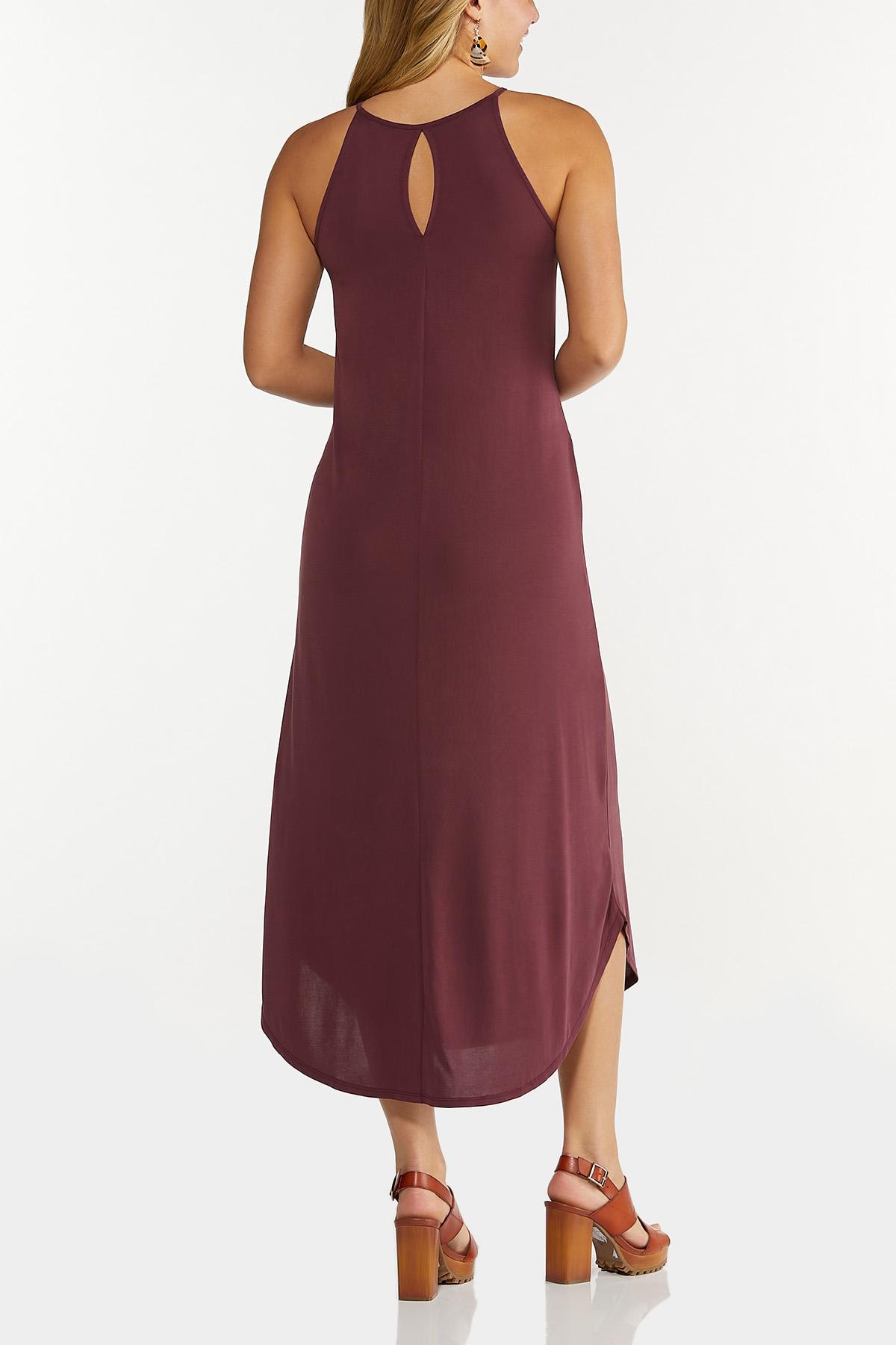 Plus Size Curved Hem Midi Dress (Item #44633452)