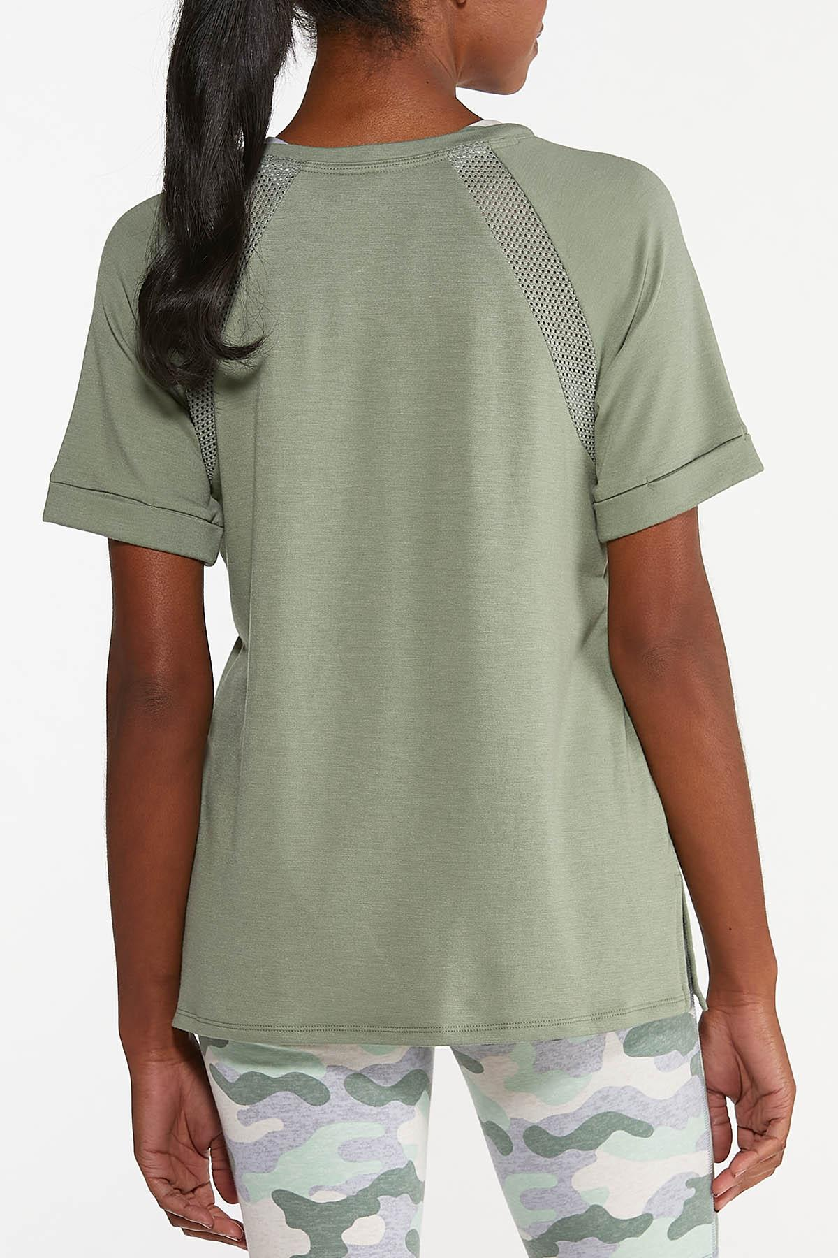 Plus Size Cuffed Sleeve Active Tee (Item #44633848)