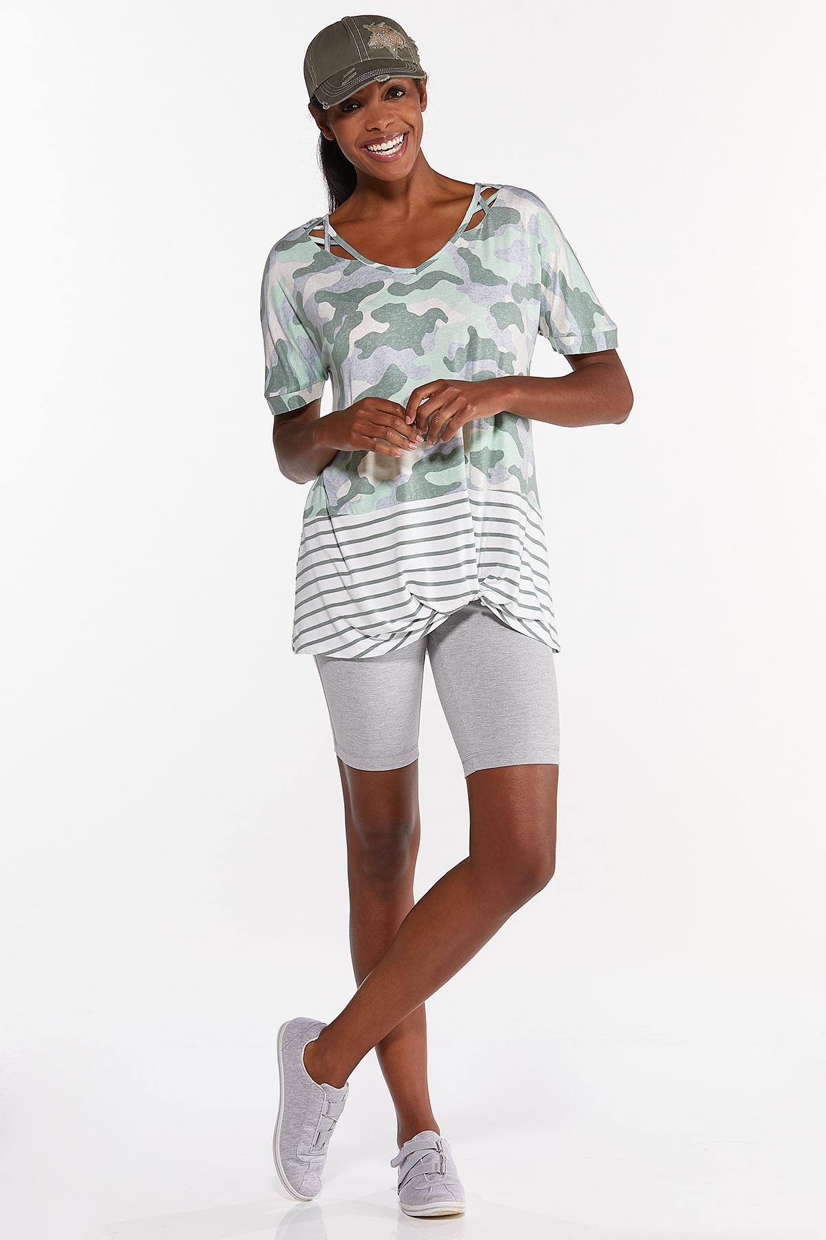Knotted Camo Stripe Top (Item #44633871)