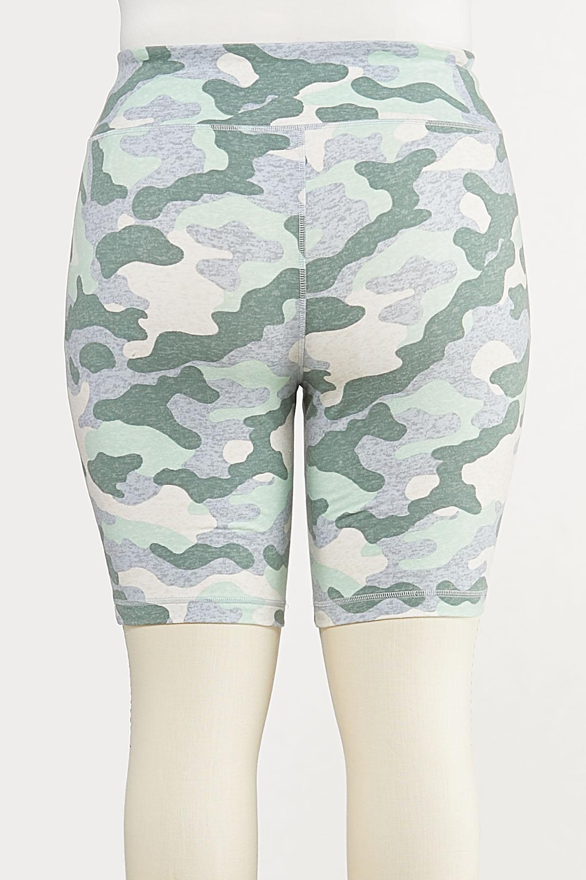 Plus Size Camo Biker Shorts (Item #44633936)